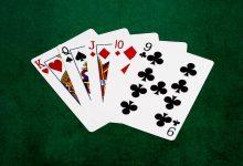 Комбинация карт в покере Стрит с Тузом