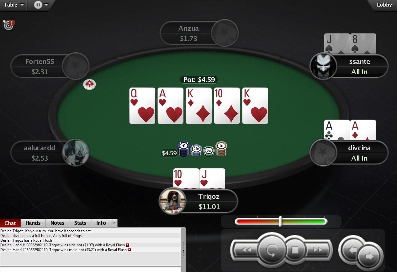 онлайн в флеш покер